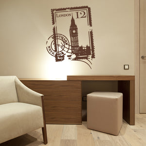 London Stamp-Wall Decals-Style and Apply