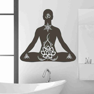 Lotus Pose Wall Decal-Wall Decals-Style and Apply