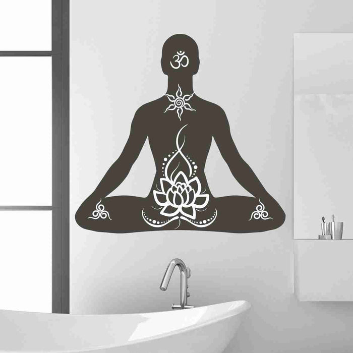 Lotus Pose Wall Decal