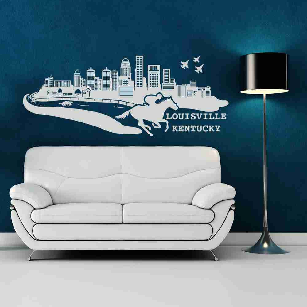 Louisville City Skyline Wall Decal-Wall Decals-Style and Apply