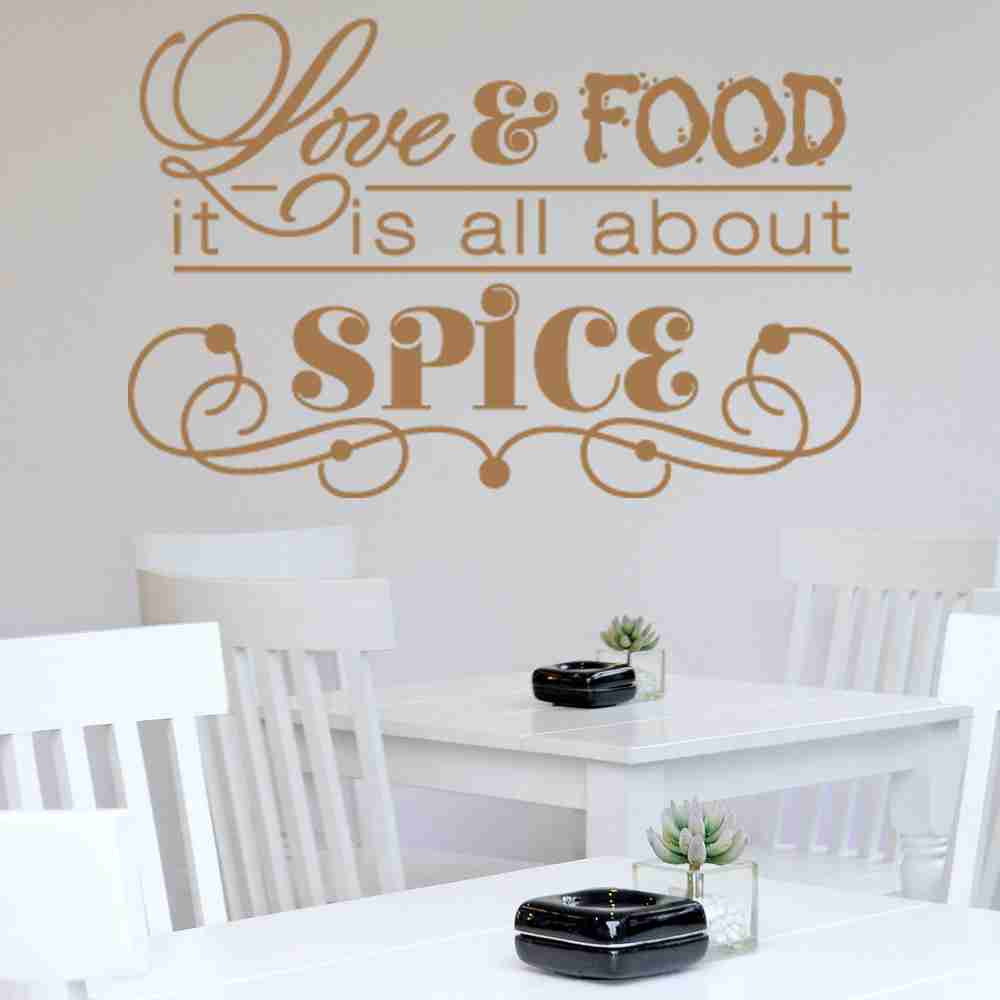 Love & Food, It's All About Spice Wall Decal-Wall Decals-Style and Apply