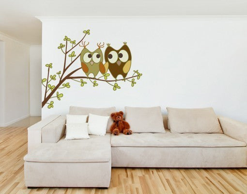 Love Owls II-Wall Decal Stickers-Style and Apply