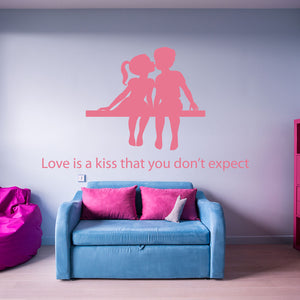Love is a kiss Wall Decals