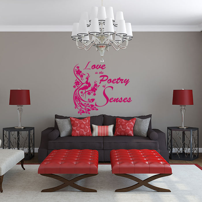 Love, Poery & Senses Wall Decal