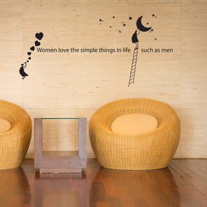 Woman Love the Simple Things in Life Wall Decal