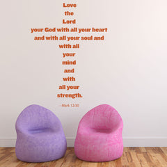 Love the Lord-Wall Decal
