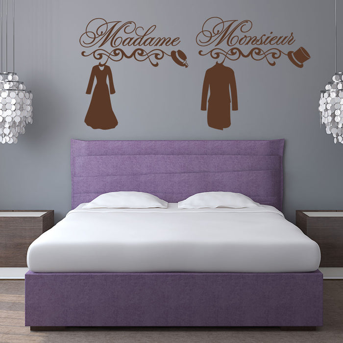 Madame & Monsieur Wall Decal