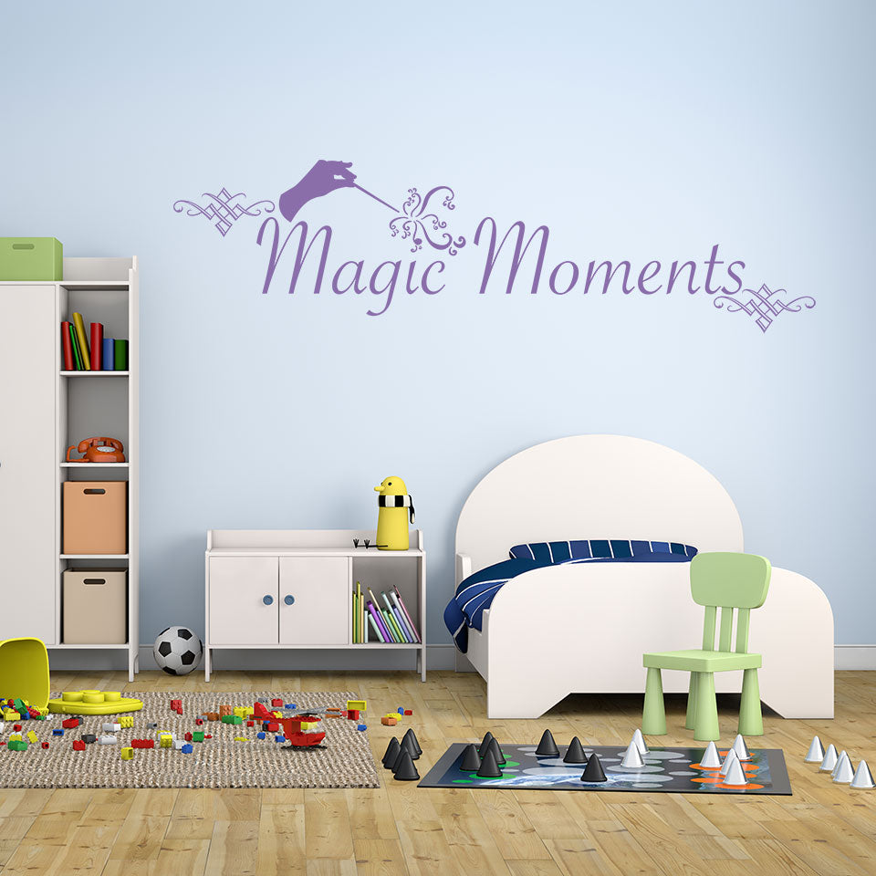 Magic Moment Wall Decal quote