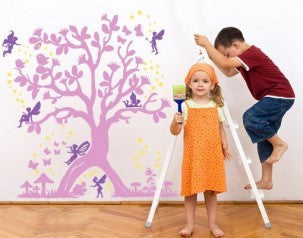 Magical Elves Tree-Wall Decals-Style and Apply