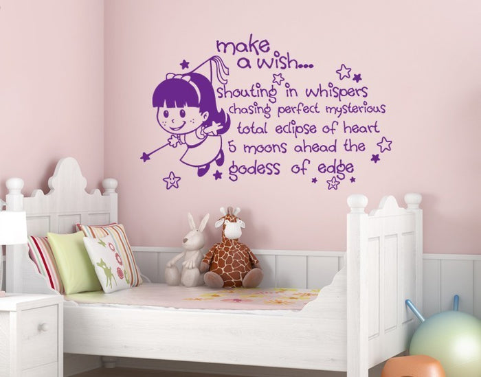 Make a Wish Wall Decal