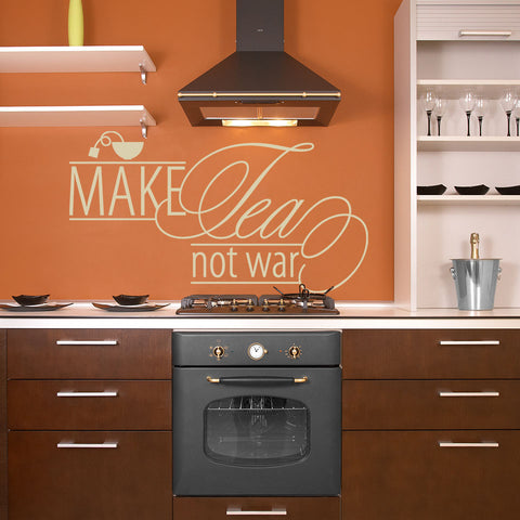 Make Tea, Not War Wall Decal