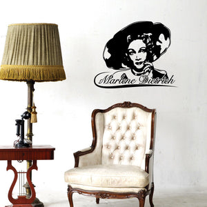 Marlene Dietrich-Wall Decal