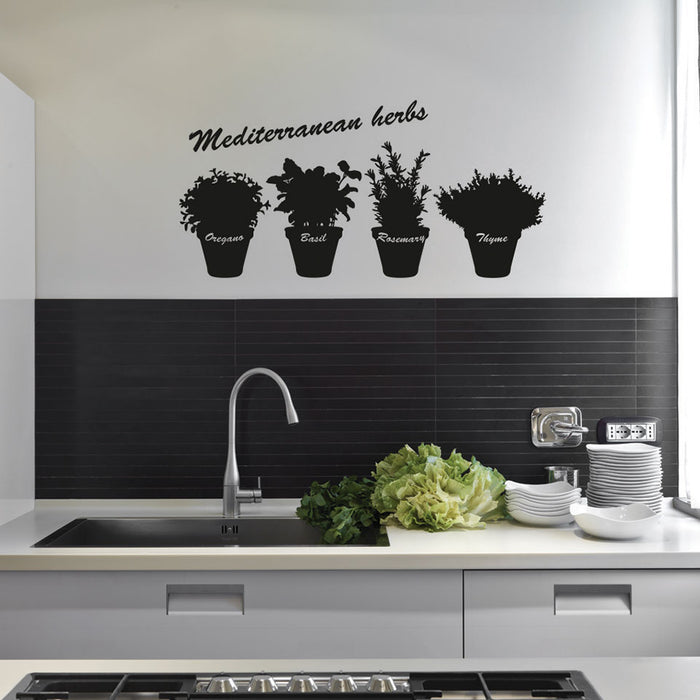 Mediterranean Herbs Wall Decal