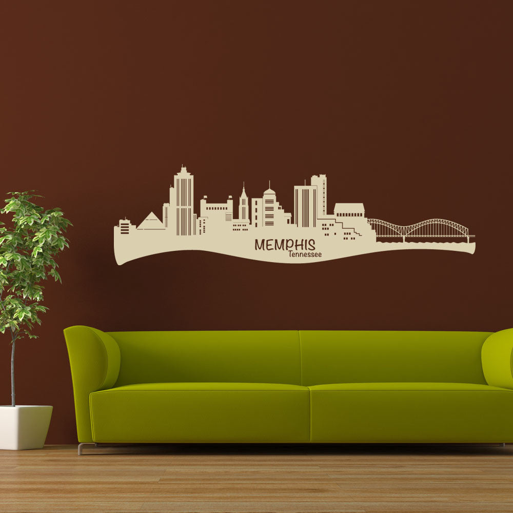 Memphis City Skyline Wall Decal-Wall Decals-Style and Apply