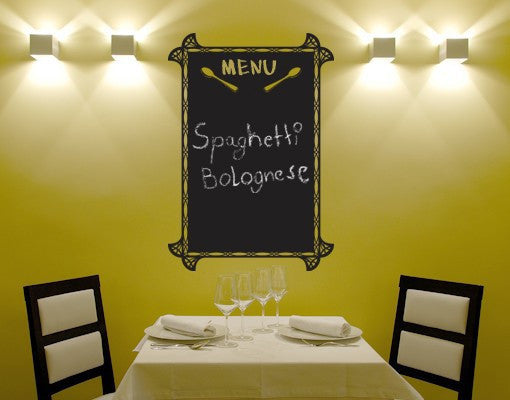Menu-Blackboard and Whiteboard Wall Decals-Style and Apply