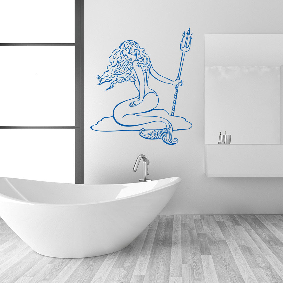 Mermaid Wall Decal – Style and Apply