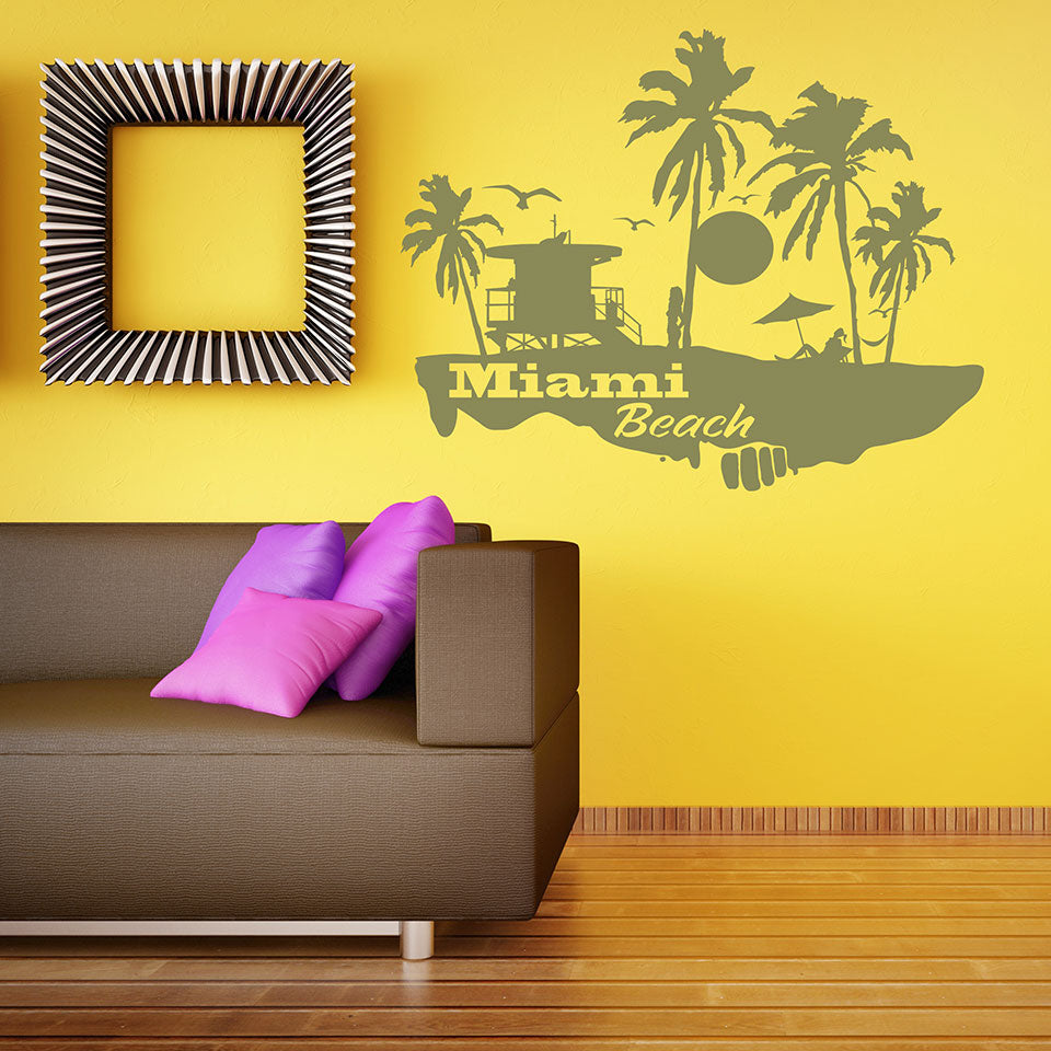Miami Beach Decal – Style and Apply