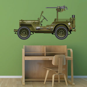Military Jeep Wall Decal