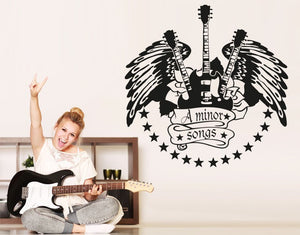 Minor Songs Wall Decal-Wall Decals-Style and Apply