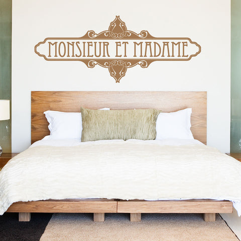 Monsieur Et Madame Wall Decal