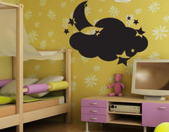 Moon and Stars-Blackboard and Whiteboard Wall Decals-Style and Apply