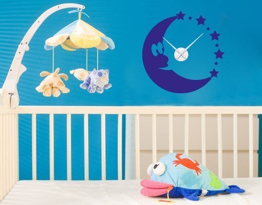 Moon Clock-Wall Decal Clocks-Style and Apply