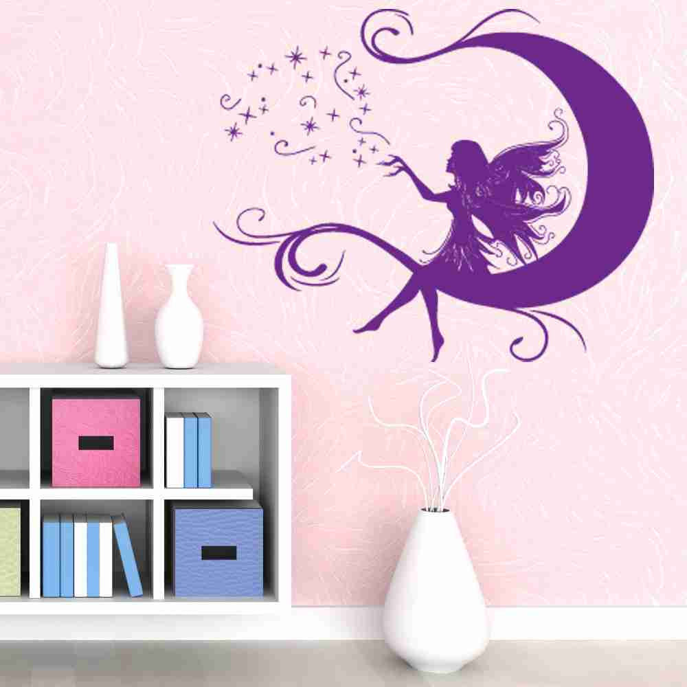 Moon Fairy Wall Decal-Wall Decals-Style and Apply