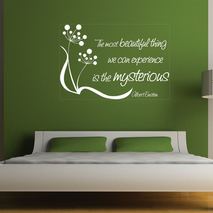 Most Beautiful Thing Wall Decal Quote