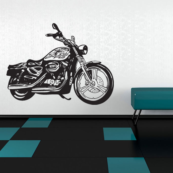 Motorcycle II Wall Decal