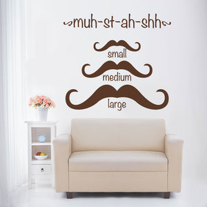 Moustache Sizes-Wall Decal