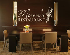 Mums Restaurant-Wall Decals-Style and Apply