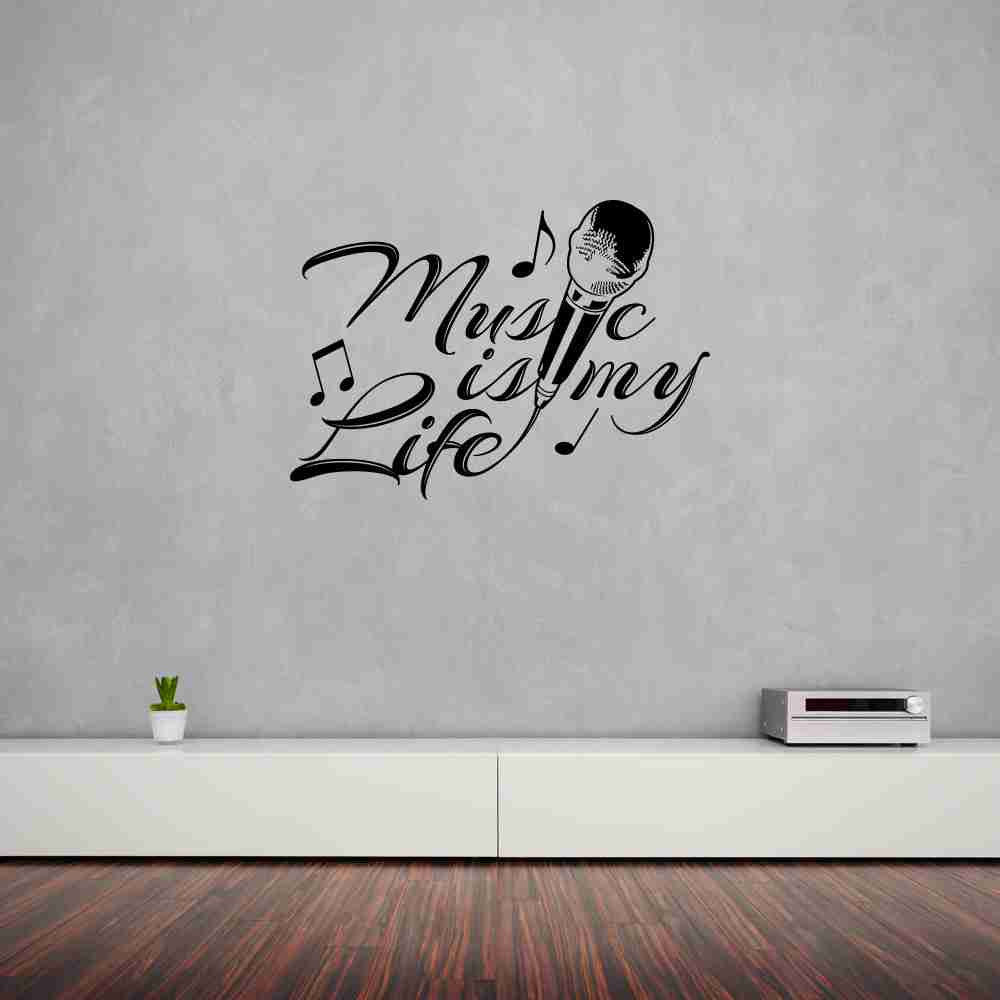 Music is my Life Wall Decal-Wall Decals-Style and Apply