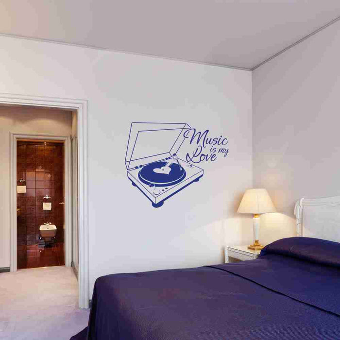 Music is my Love Wall Decal