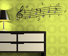 Music Notes-Wall Decal Hangers-Style and Apply