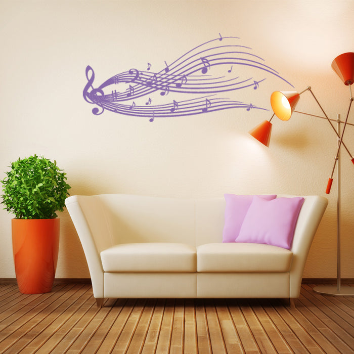 Music Staff Wall Decal