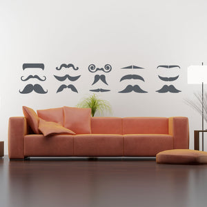 Moustache Set-Wall Decal