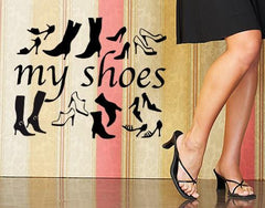My Shoes-Wall Decals-Style and Apply