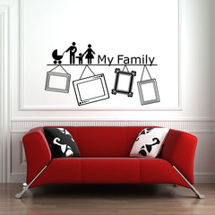 My Family picture frame -Wall Decal