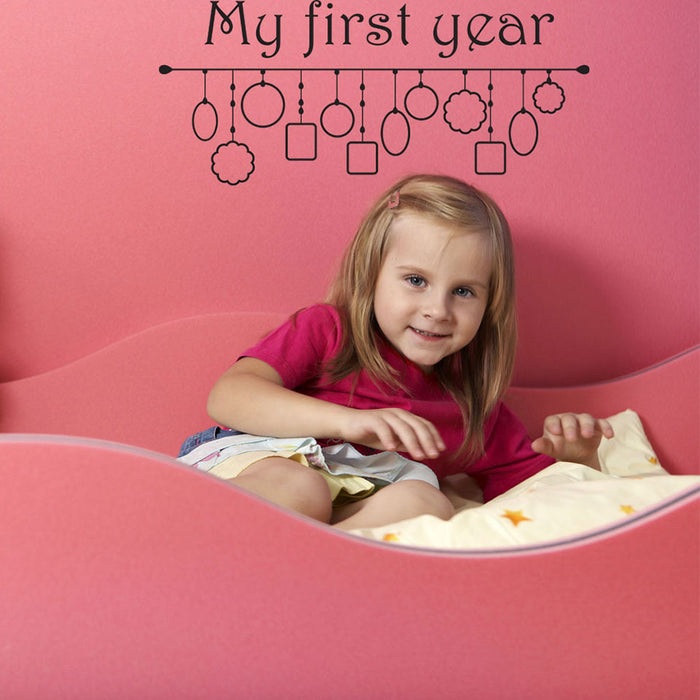 My First Year Picture Frame Wall Decal