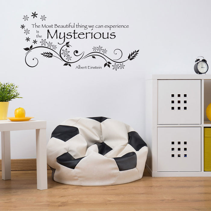 Mysterious Wall Decal Quote