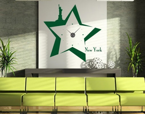 New York Clock-Wall Decal Clocks-Style and Apply
