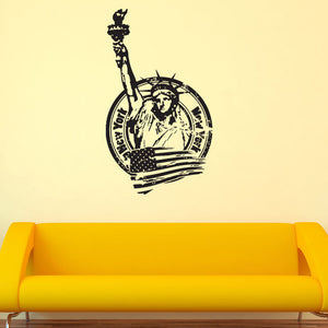 New York Liberty Statue Wall Decal-Wall Decals-Style and Apply