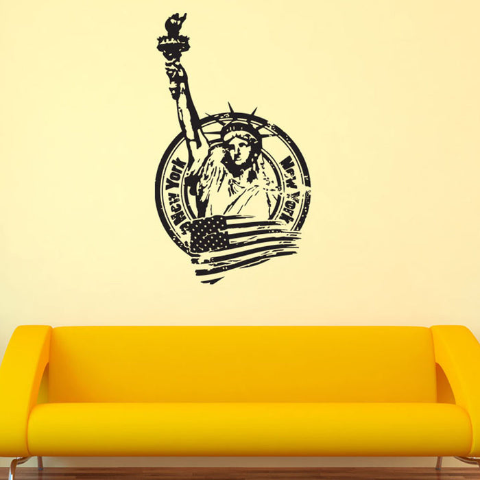 New York Liberty Statue Wall Decal