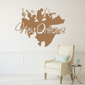 New Orleans Sticker-Wall Decals-Style and Apply