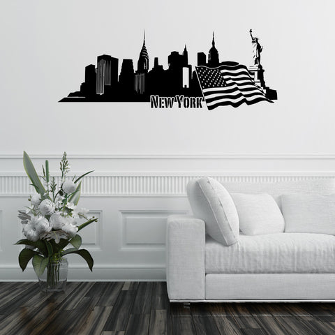 New York Skyline Wall Decal Part 84