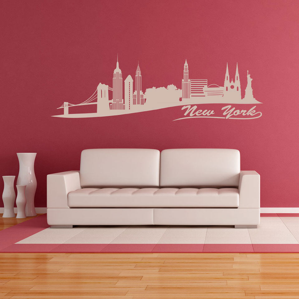 New York II Skyline Decal-Wall Decals-Style and Apply