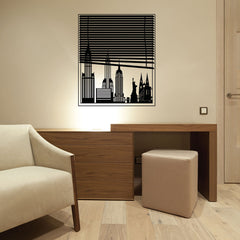New York View-Wall Decals-Style and Apply