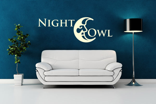 Night Owl-Wall Decals-Style and Apply
