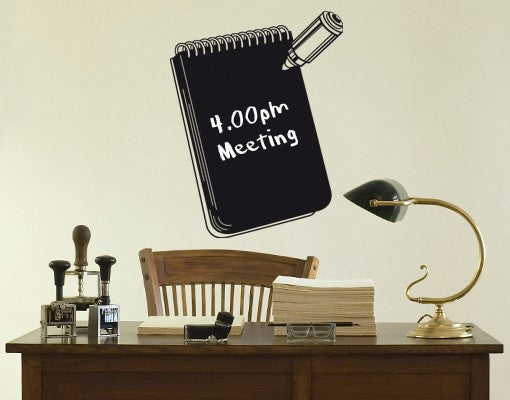 Notebook-Blackboard and Whiteboard Wall Decals-Style and Apply & Notebook Wall Decal Board u2013 Style and Apply