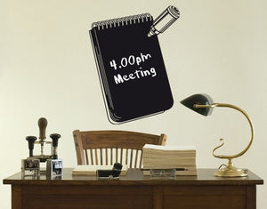 Notebook-Blackboard and Whiteboard Wall Decals-Style and Apply